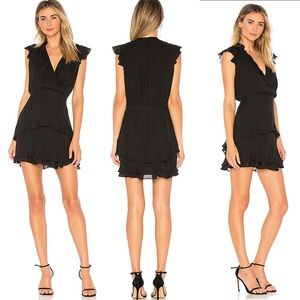 Parker Black Dress Revolve Tangia LBD Ruffle Mini